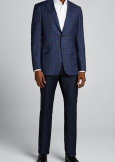 Brioni Men's Plaid Wool Sport Jacket