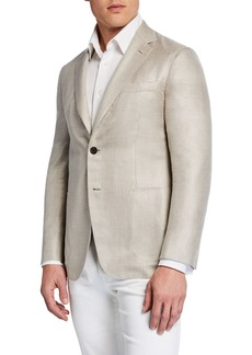 Brioni Men's Silk-Blend Soft Jacket