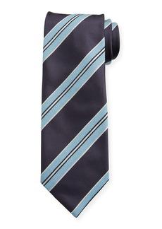 Brioni Men's Silk Double-Framed Stripe Tie