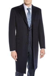 Brioni Men's Single-Breasted Cashmere Top Coat