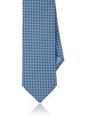 Brioni Men's Square-Pattern Silk Necktie