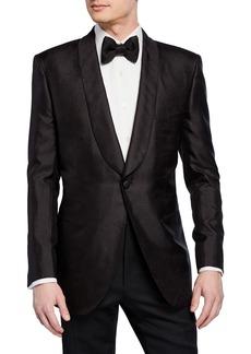 Brioni Men's Textured Shawl-Collar Dinner Jacket
