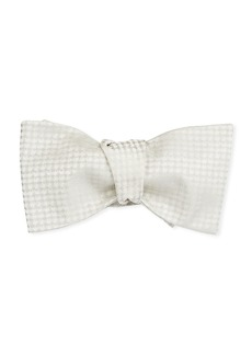 Brioni Men's Textured Silk Self-Tie Bow Tie