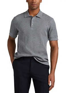 Brioni Men's Waffle-Knit Cotton Polo Shirt