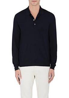 Brioni Men's Wool-Blend Long-Sleeve Polo Shirt