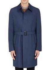 Brioni Men's Wool-Silk Belted Overcoat
