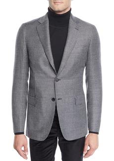 Brioni Men's Wool Two-Button Check Jacket