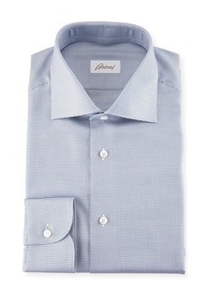 Brioni Micro Check Dress Shirt