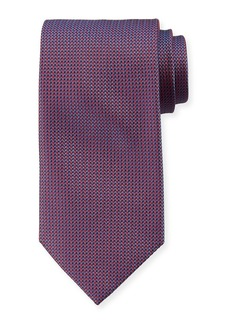 Brioni Micro-Herringbone Silk Tie