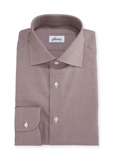 Brioni Micro-Houndstooth Dress Shirt