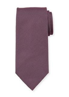 Brioni Micro Houndstooth Silk Tie