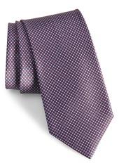 Brioni Microgeo Grid Silk Tie