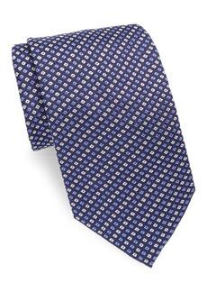 Brioni Mini Check Print Silk Tie
