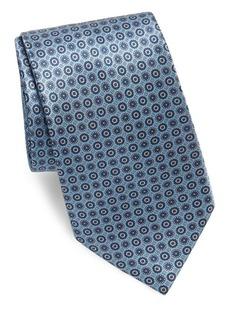 Brioni Silk Mini-Circle Tie