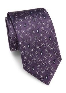 Brioni Mini Paisley Silk Tie