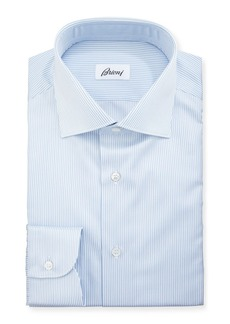 Brioni Multi-Stripe Cotton Dress Shirt