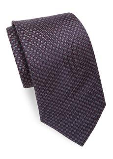 Brioni Narrow Floral Silk Tie