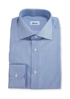 Brioni Narrow-Stripe Dress Shirt