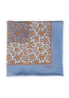 Brioni Paisley Pine Silk Pocket Square