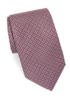 Brioni Patterned Silk Neck Tie