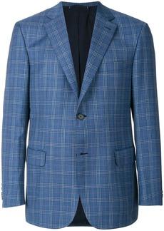 Brioni plaid blazer - Blue