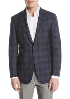 Brioni Plaid Double-Face Sport Coat