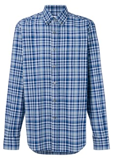 Brioni plaid print shirt - Blue