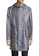 Brioni Plaid Silk Jacket