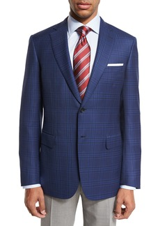 Brioni Plaid Two-Button Sport Coat