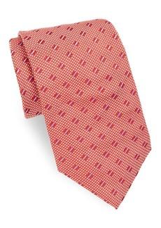 Brioni Quilt Pattern Silk Tie