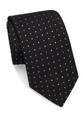 Brioni Raw-Silk Dotted Tie