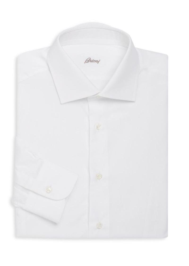 Brioni Regular-Fit Cotton Dress Shirt