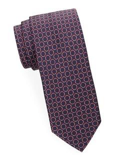 Brioni Repeating Circle Silk Tie
