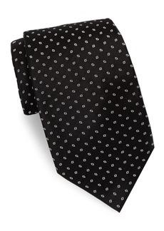 Brioni Repeating Diamond Print Silk Tie