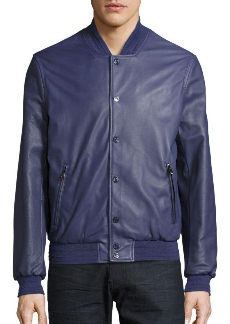 Brioni Reversible Leather Bomber Jacket