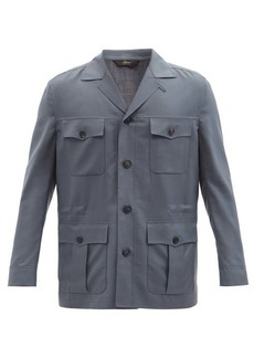 Brioni Sahariana 150s wool-blend twill field jacket