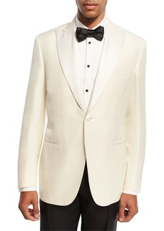 Brioni Satin-Lapel Silk Dinner Jacket
