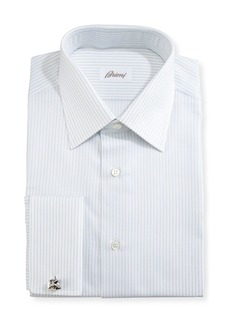 Brioni Satin-Stripe Dress Shirt