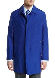 Brioni Silk-Blend Car Coat  Blue