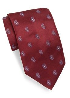 Brioni Silk Tie With Paisley Print