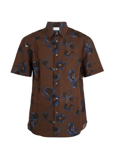 Brioni Single-cuff floral-print linen shirt