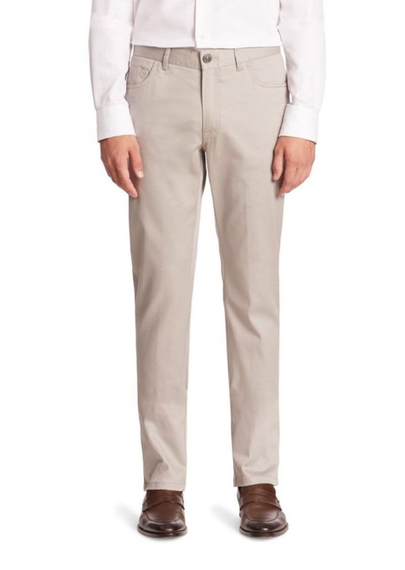 Brioni Slim-Fit Cotton Blend Trousers