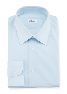 Brioni Solid Cotton Poplin Dress Shirt