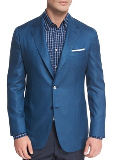 Brioni Solid Silk Two-Button Blazer