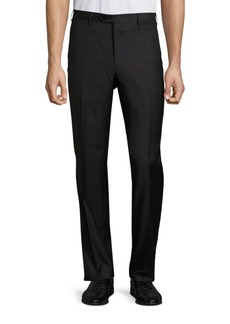 Brioni Solid Wool Trousers