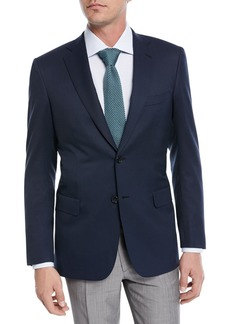 Brioni Solid Wool Two-Button Blazer