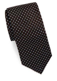 Brioni Square & Dot Silk Tie