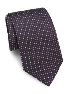 Brioni Square & Pin Dot Silk Tie