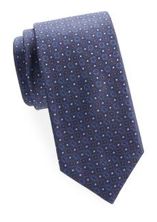 Brioni Square and Floral Silk Tie