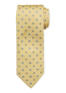 Brioni Square Floral Silk Tie